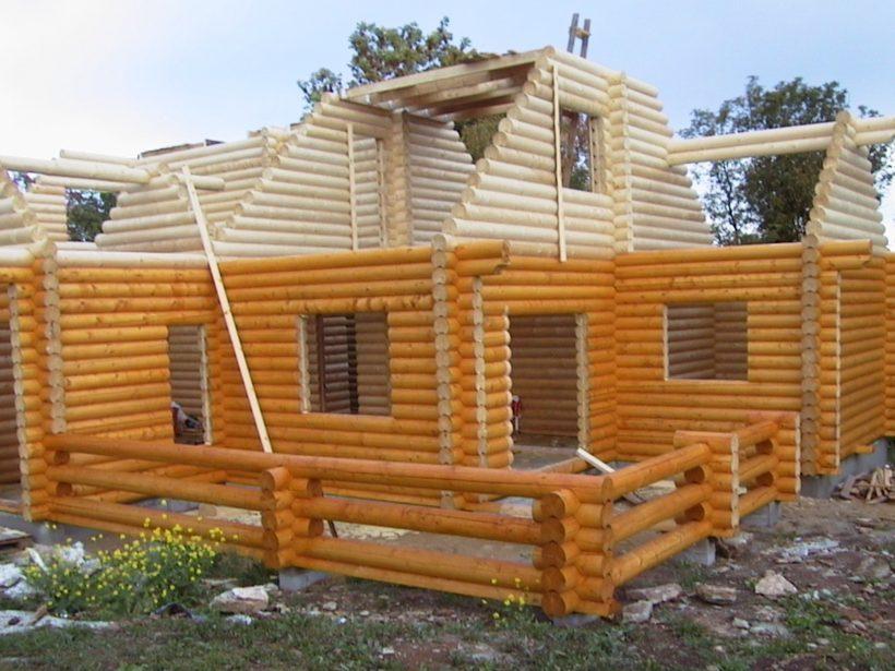 Строительство деревянных стен для частного дома